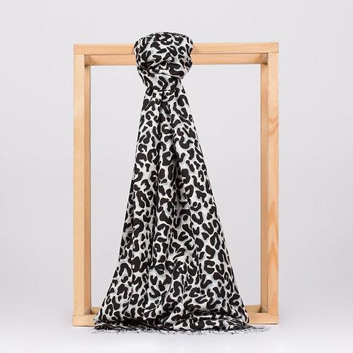 Floral Collection- 2452-Leopar-Siyah/Beyaz