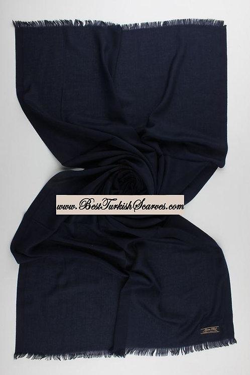 Pashmina shawl-Navy Blue
