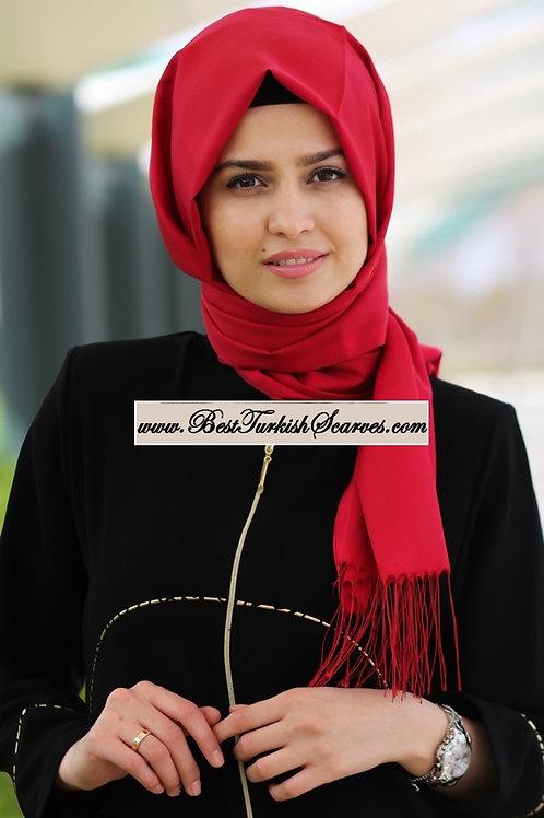 Isra Premium Scarf/Hijab/Shawl-Red