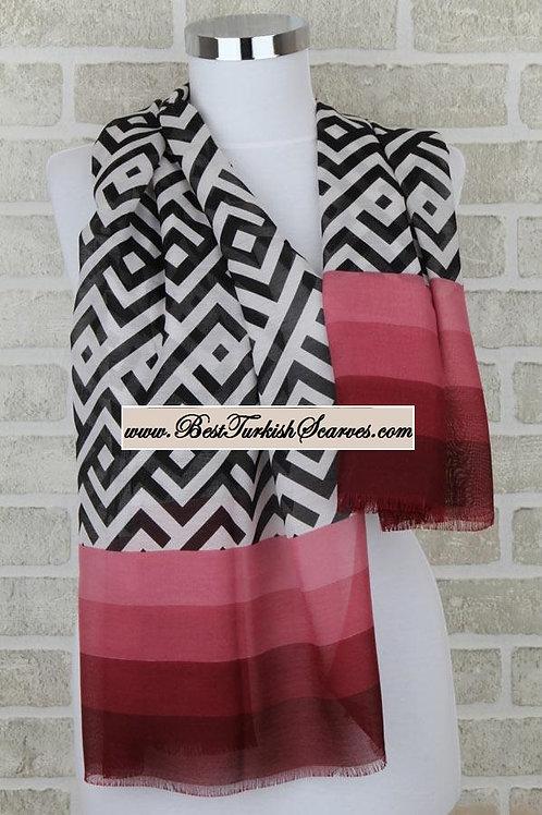 Five 5 motif design shawl/hijab- model 5