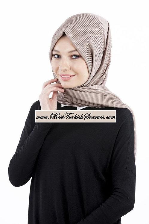 Isra Pleated Hijab/Shawl/Scarf-Mink