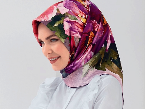 Armine 2018 Winter Collection Silk Scarf/hijab-7802D-01