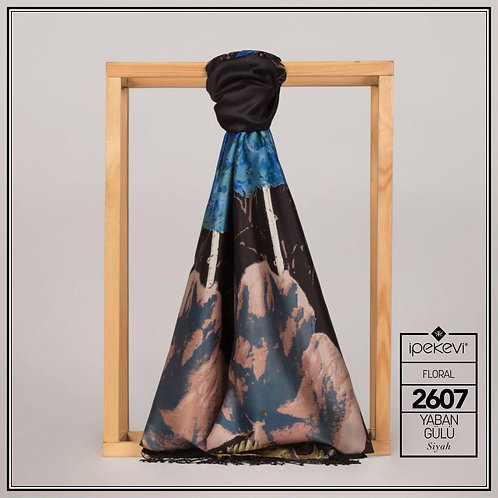 Floral Collection- 2607-Yaban Gulu-Siyah