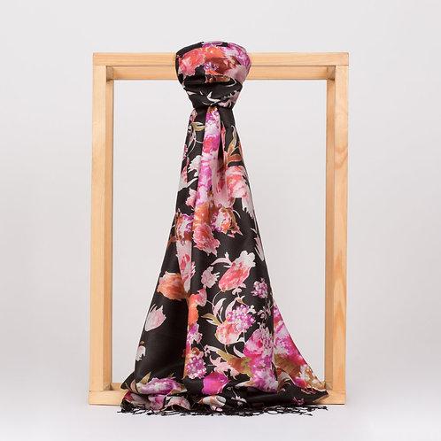 Floral Collection- 2394- Gul Bahce-Siyah
