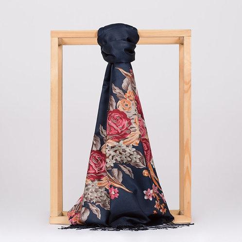 Floral Collection- 2677-SarayBahcesi-Lacivert