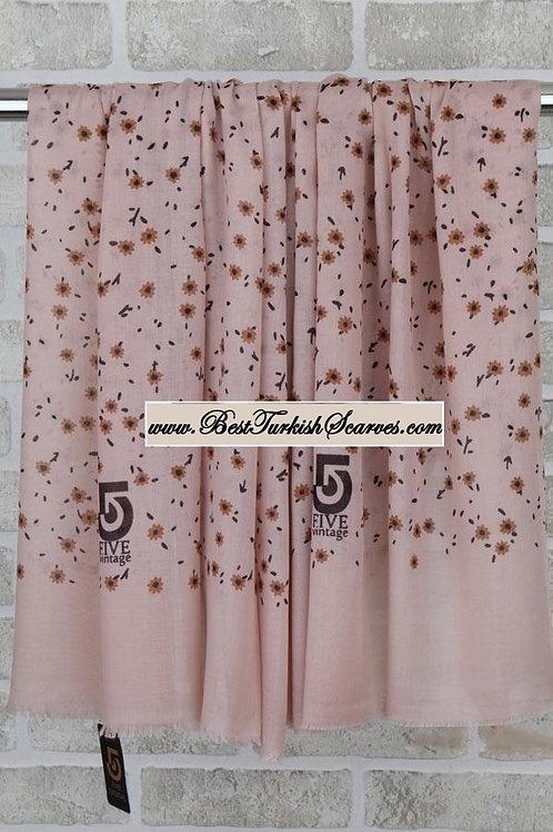 Five 5 floral shawl/hijab- model 2 /mink