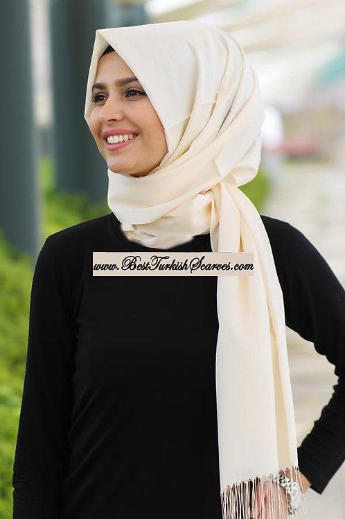 Isra Premium Scarf/Hijab/Shawl-Cream
