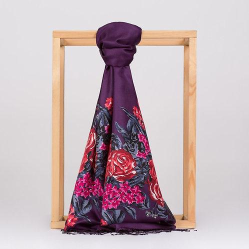 Floral Collection- 2677-SarayBahcesi-Patlican Moru