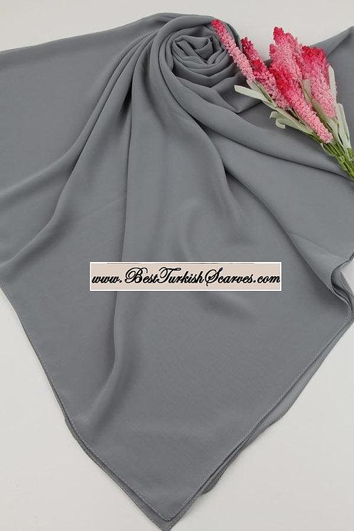Big size chiffon scarf/hijab-Grey