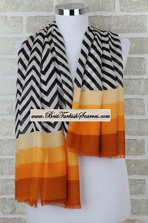 Five 5 zigzag shawl/hijab-model 1