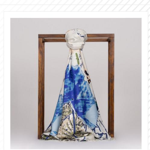 Floral Collection-2607-Beyaz/Lacivert