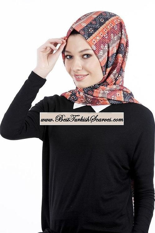 Isra Pleated Hijab/Shawl/Scarf-Ethnic Design 2