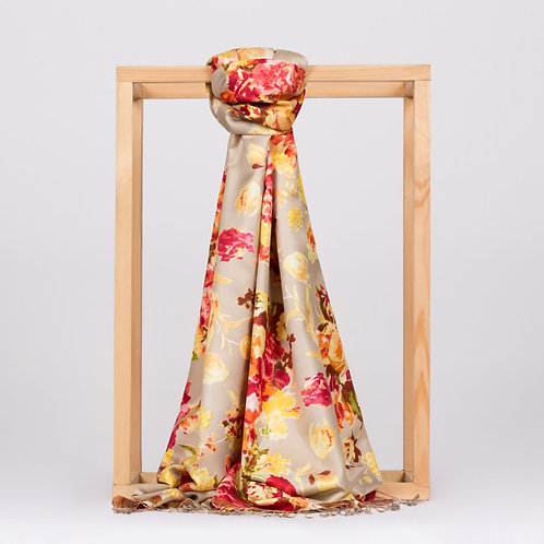 Floral Collection- 2394-Gul Bahcesi-Bej