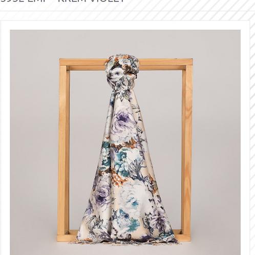 Floral Collection- 5932-Emp-Krem/Violet
