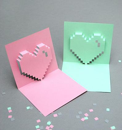 Pop Up Heart Card