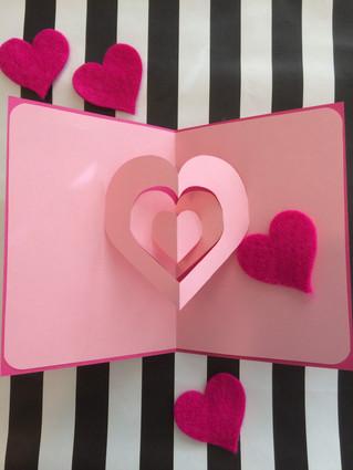 EASY DIY Valentine's Day POP UP Card!