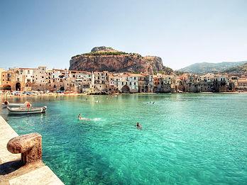 Cefalu a village in Sicily italy