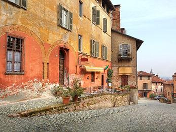 Saluzzo Village in Piedmont Italy