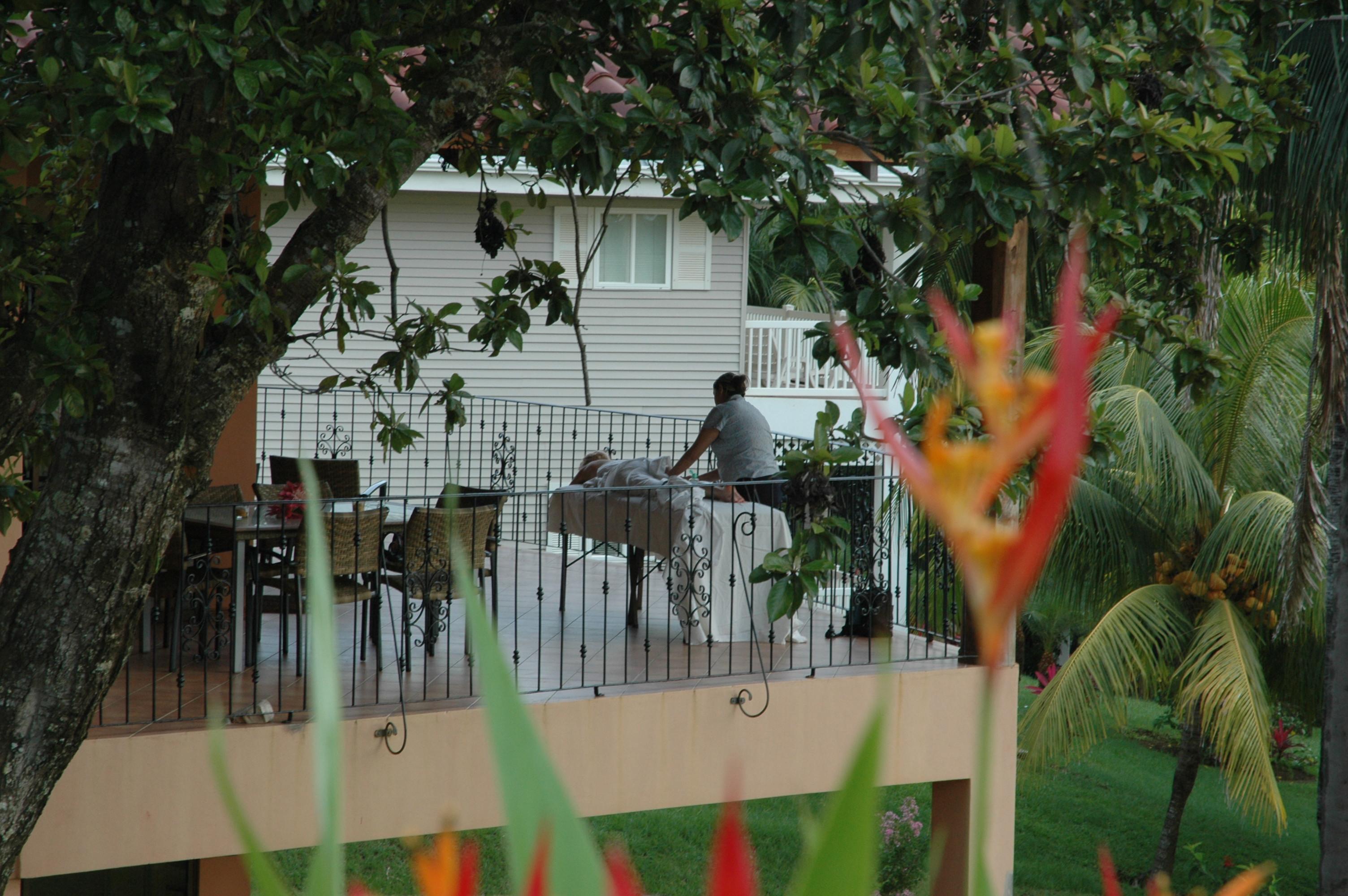 get a massage on our veranda