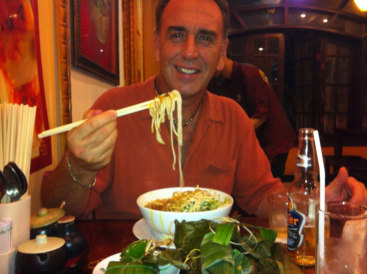 Rick eating Phu