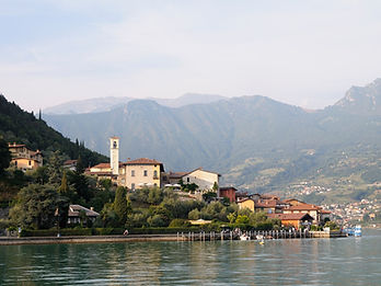 Monte Isola a village in Lombardy Italy