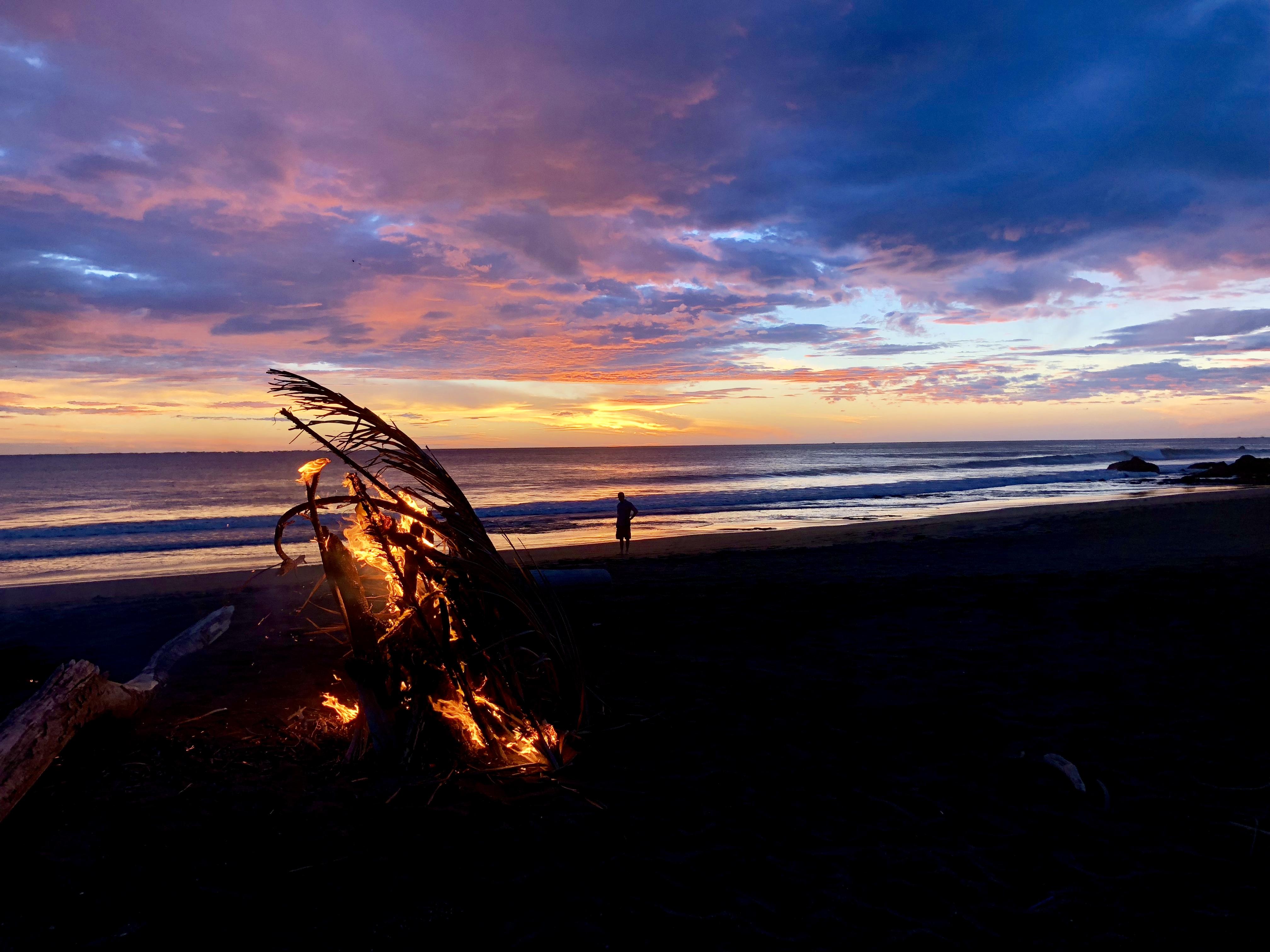 bonfire on our beach