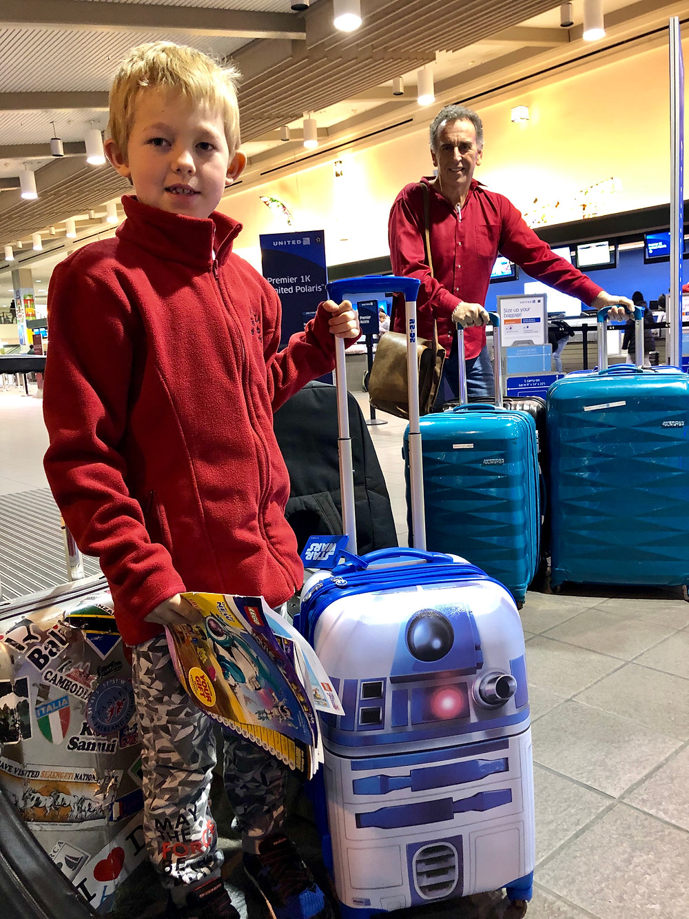 Justice with his new R2D2