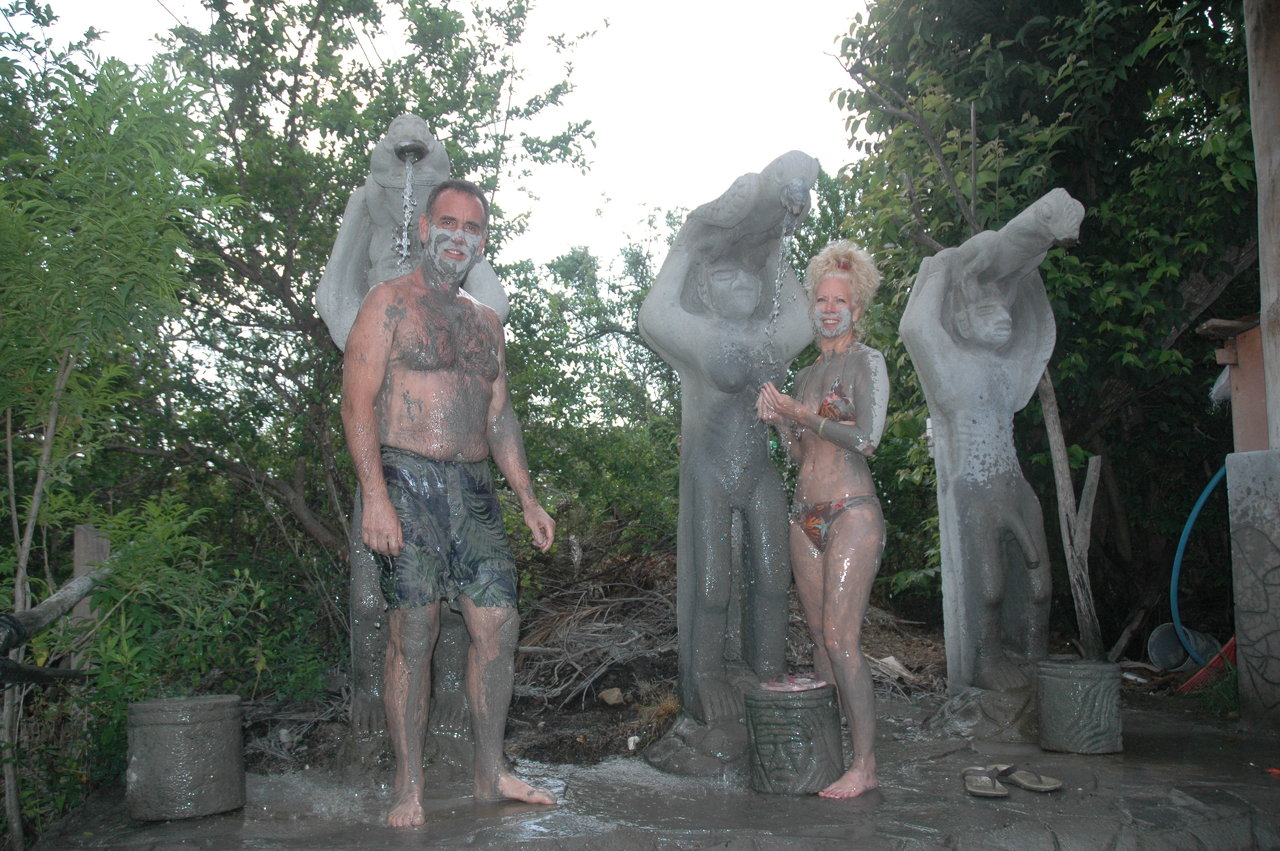 Mud bath in Costa Rica