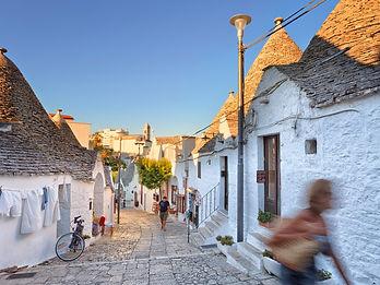 Alberobello a village in Puglia italy