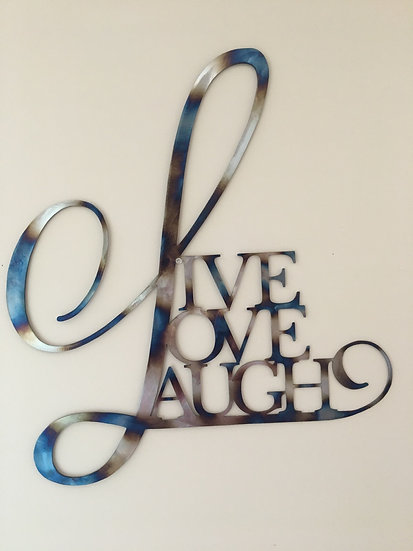 Live Love Laugh wall art