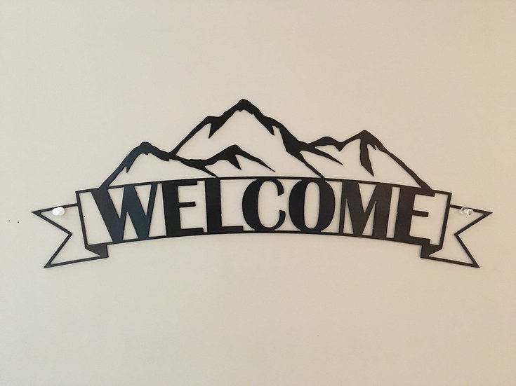 Mountain welcome sign