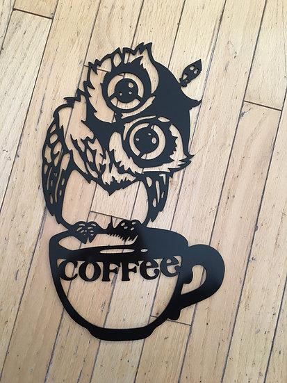 Curious kitchen owl
