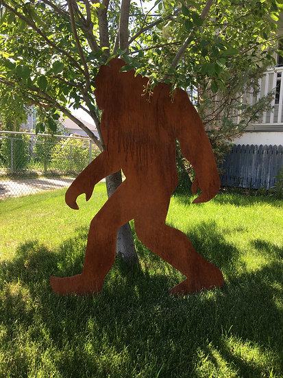 Sasquatch yard art
