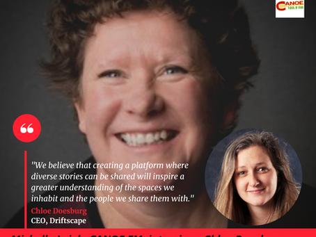 Michelle Leigh from CANOE FM interviews Driftscape CEO, Chloe Doesburg