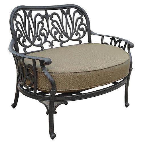 Lillian Cuddle Club Chair w/ Ottoman