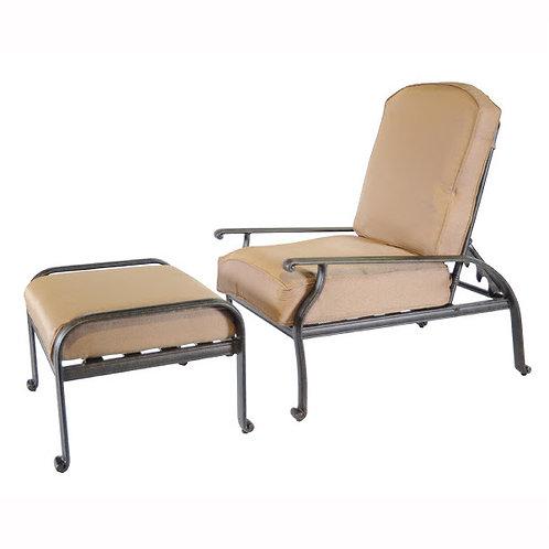 New Providence Adjustable Back Club Chair w/ Ottoman