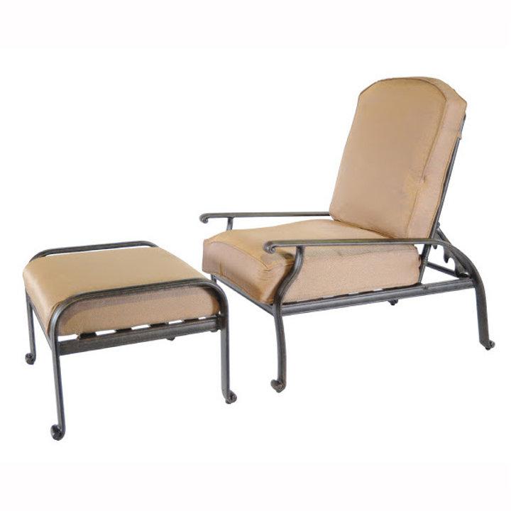 Terrific New Providence Adjustable Back Club Chair W Ottoman Patio Machost Co Dining Chair Design Ideas Machostcouk
