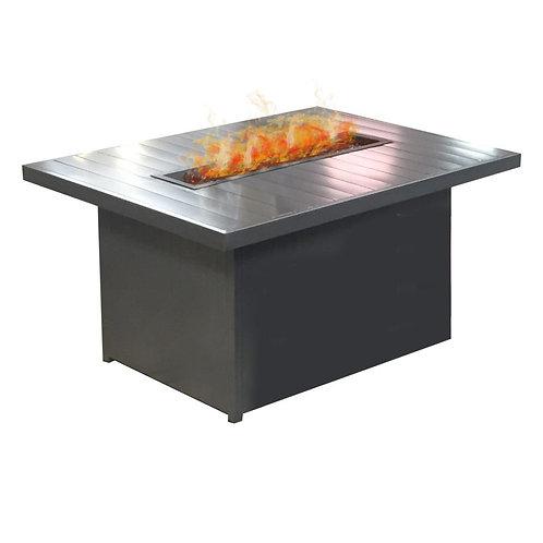 "Aluminum 48"" x 36"" Rectangle Fire Table"