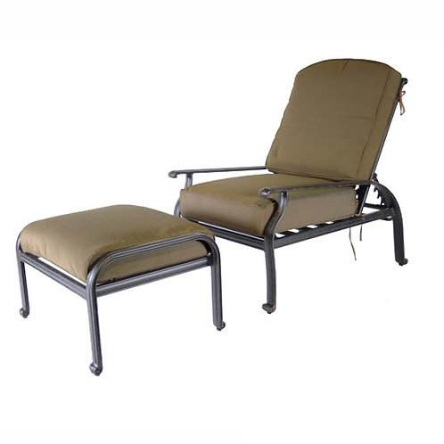 Lillian Adjustable Club Chair w/ Ottoman