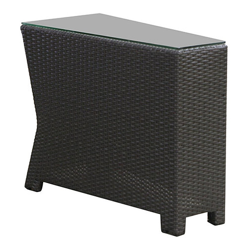 Wedge End Table w/ Glass