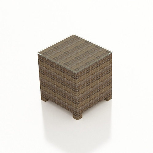 End Table w/ Glass