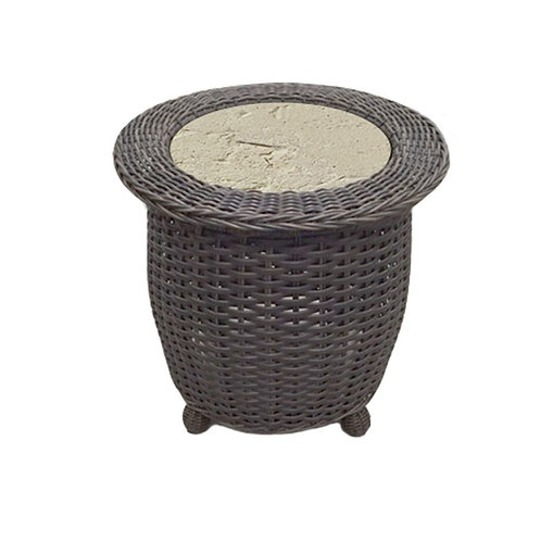 End Table w/ Ceramic Insert