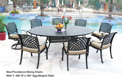 The New Providence Collection Dining Set with 72 inch Egg Shaped Table.jpg