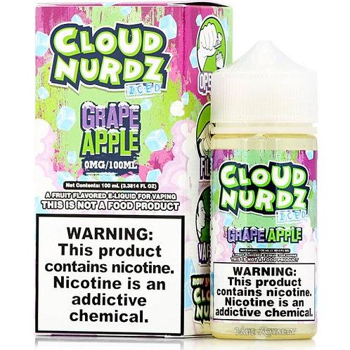Cloud Nurdz Iced – Grape Apple 100mL Bottle