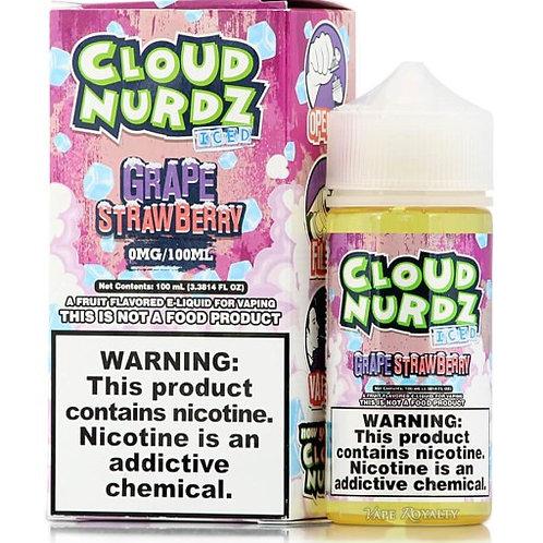 Cloud Nurdz Iced – Grape Strawberry 100mL Bottle