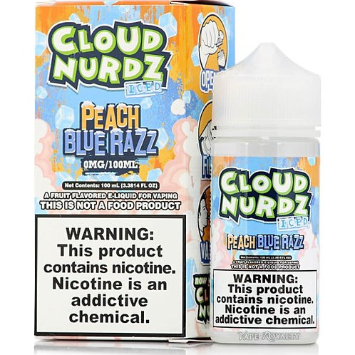 Cloud Nurdz Iced – Peach Blue Razz 100mL Bottle