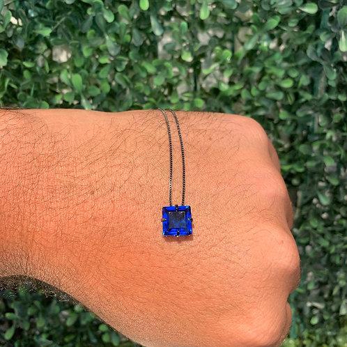 Colar Quadrado Azul City