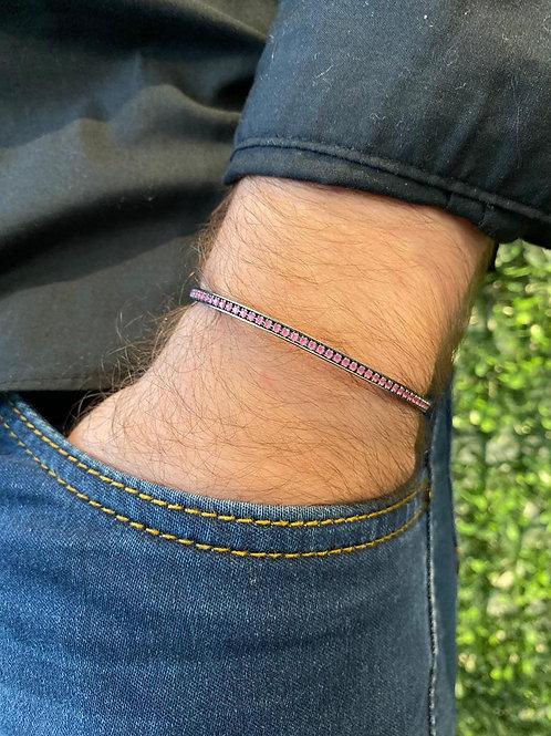 Bracelete Riviera Slim Rubi