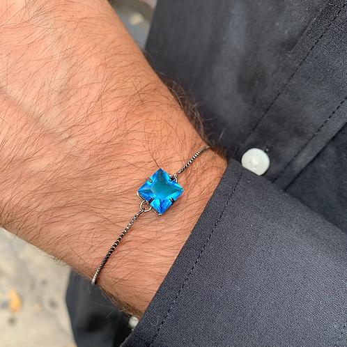 Pulseira Quadrada Azul Dubai