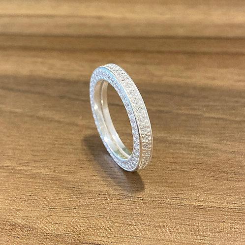 Anel Eternity Cristal Prata 925